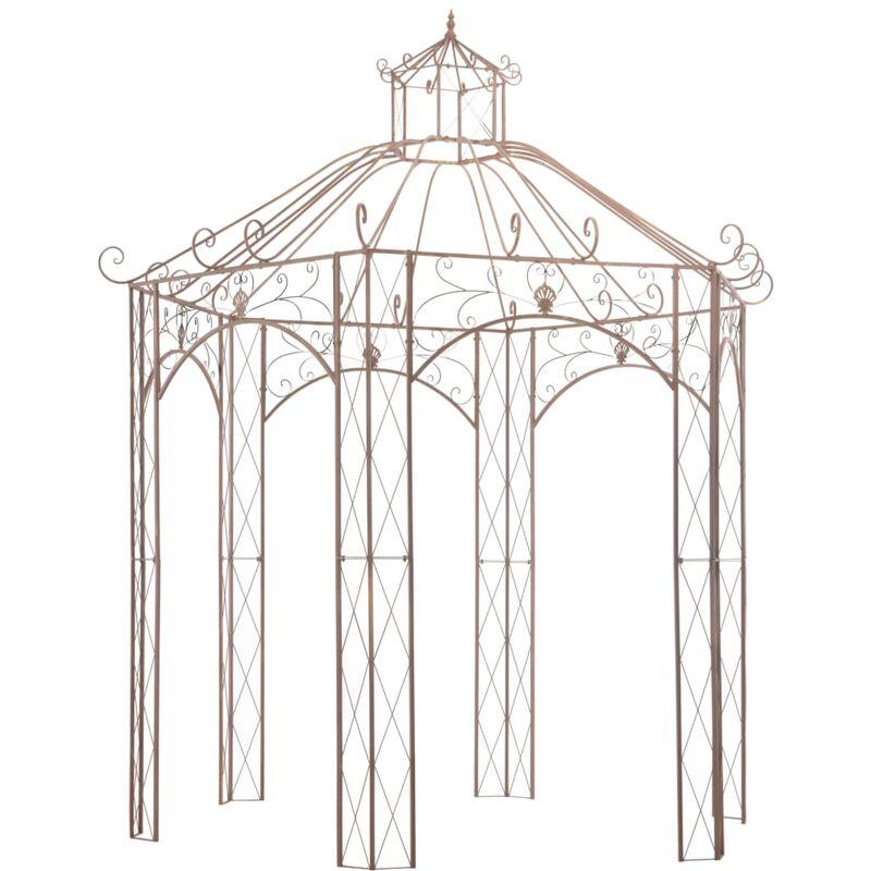 Pavillon de jardin Marron antique 3 m Fer - ZQYRLAR