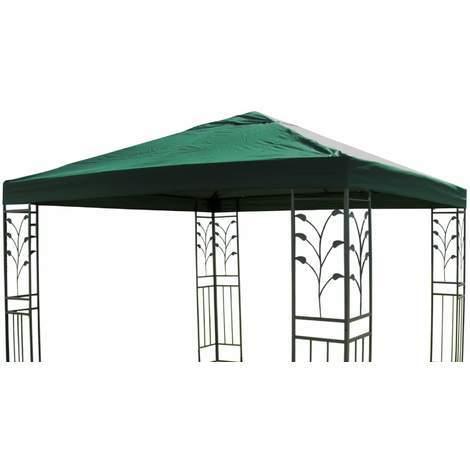 Pavillon Ersatz Dach LUKAS 3x3 m grün Pavillondach