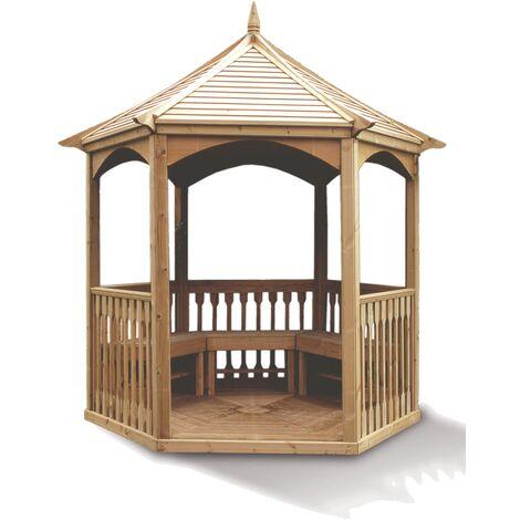 Pavillon hexagonal - Toiture bois - 4,74 m²