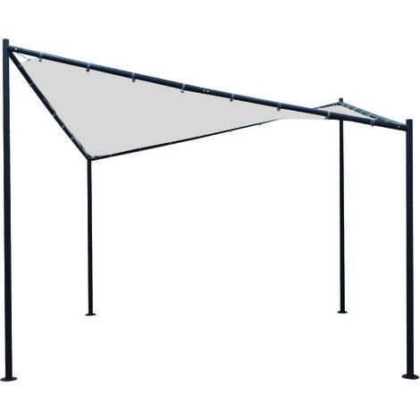 Pavillon ORLANDO 3,5x3,5 Meter mit Plane PVC-bechichtet weiss