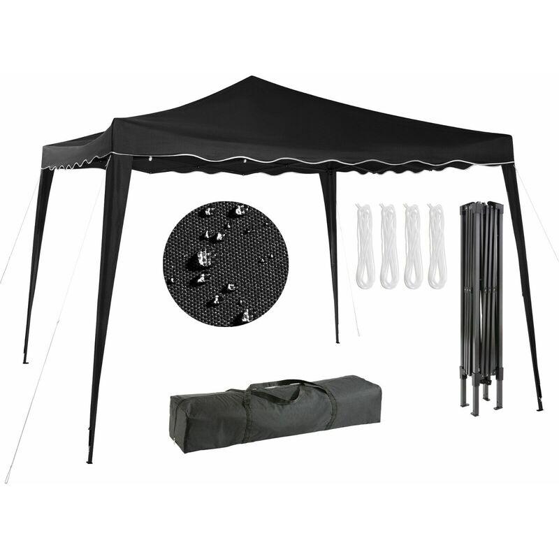 Arebos Pavillon pliable Tente de réception 3x3m antracite - Anthrazit