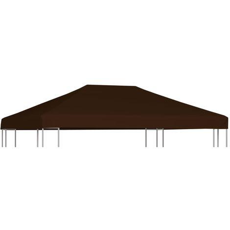 Pavillondach 310 g / m2 3x4 m Braun