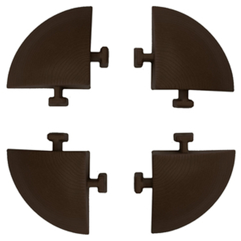 Pavimento in polipropilene E40 LM effetto legno set 4 angoli