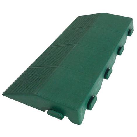 Pavimento in polipropilene verde con scivolo maschio