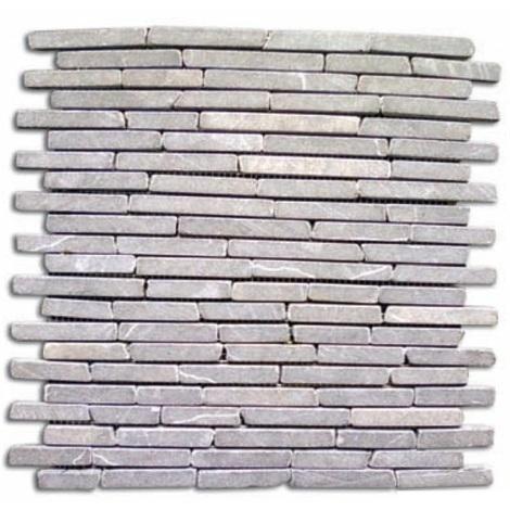 Pavimento mosaico 11 pz.pietra naturale grigia 30x30 supporto in rete mattonella piastrelle quadroni - Capaldo