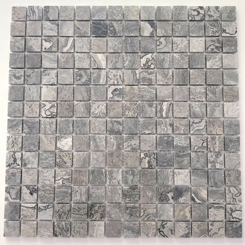 Sygma Group - Pavimento o rivestimento in marmo a mosaico di pietra Nizza Gris
