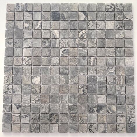 Pavimento o rivestimento in marmo a mosaico di pietra Nizza Gris