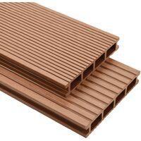 Pavimento per esterni in WPC con accessori 10 m² 2,2 m marrone
