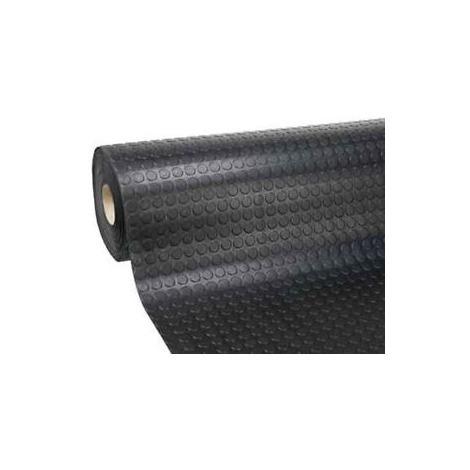 PAVIMENTO PVC BULLONATO COPRIPAVIMENTO 1MTX25MT NERO-ROTOLO