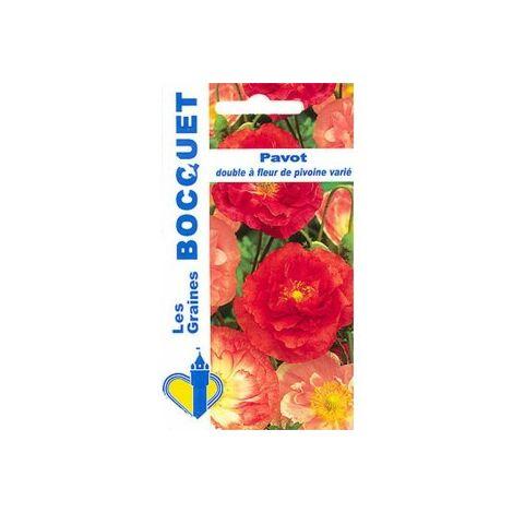 Pavot double à fleur de pivoine varié - 1,5g