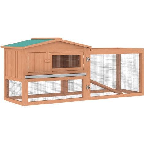 """main image of """"PawHut 2 Floor Wooden Rabbit Hutch Cage Chicken Coop Outdoor Backyard"""""""