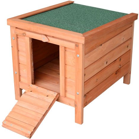"PawHut 20"" Wooden Rabbit Hutch Bunny Cage Guinea Pig House Pet Habitat Ferret"