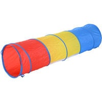 PawHut 3 Colour Tunnel Dog Agility Traning Run Toy Exercise w/ Carry Bag