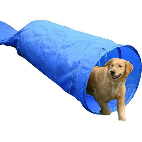 PawHut 5m Long Dog Tunnel Rigid Agility Training Equipment with Carrying Bag Blue