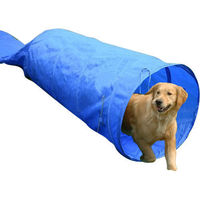 Pawhut 5m Long Dog Tunnel Rigid Agility Training Equipment with Carrying Bag Blue