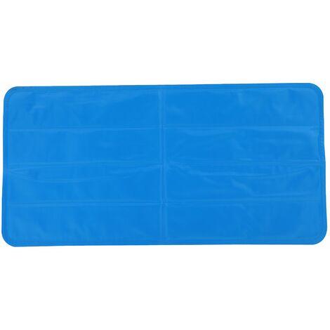 PawHut Alfombrillas de Enfriamiento para Mascotas Baja Temperatura 2-6 Horas 90x45x1 cm Azul