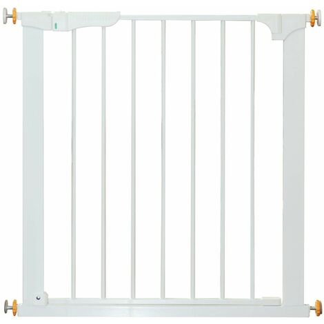 PawHut Barrera Protector de Seguridad para Mascota Niño Puerta Ajustable Escalera 76cm