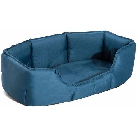 PawHut Cama para Perros y Gatos tipo Colchón y Lavable 90x70x28cm Color Azul