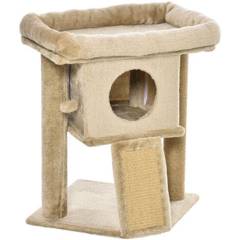 "main image of ""PawHut Cat Tree Activity Tower Climbing Centre Kitten w/ Scratching Pad Ball Toy"""