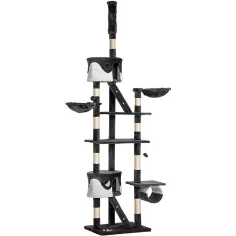 """main image of """"Pawhut Cat Tree Scratching Post Activity Centre Sisal Kitten Tree Scratch Scratcher Play Toy Climbing Tree Bed Multi Level 240-260cm High"""""""