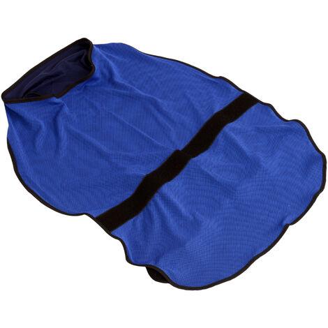 PawHut Cooling Dog Vest Harness Coat Cooler Puppies Pet Adjustable Size Blue