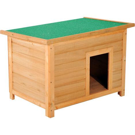 Cucce Per Cani Da Esterno In Plastica.Pawhut Cuccia Per Cani Impermeabile Da Esterno In Legno Di Abete