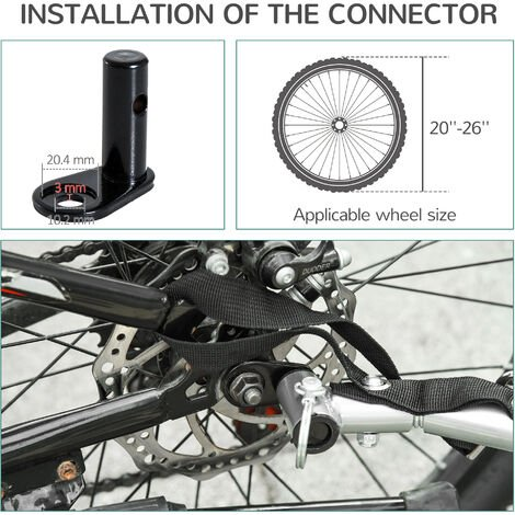 PawHut Dog Carrier Jogger Kit Bike Trailer with Steel Frame and Suspension - Red