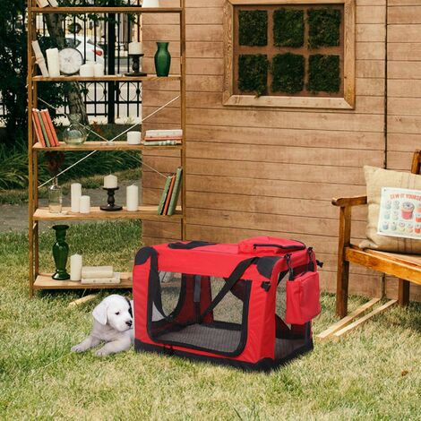 Pawhut Folding Fabric Soft Portable Pet Dog Cat Crate Puppy Kennel Cage Carrier House XLarge