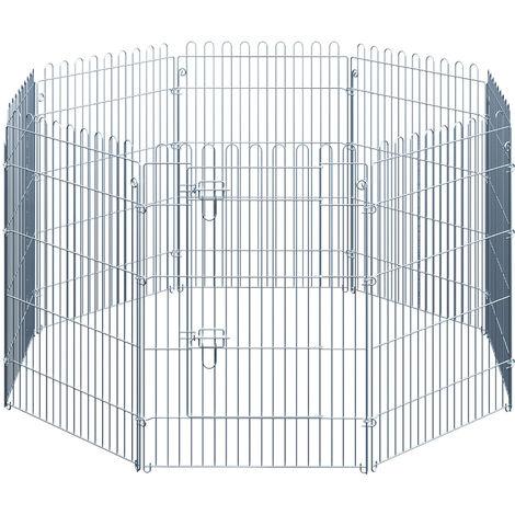 PawHut® Freilaufgehege Welpenauslauf Welpengitter 8-teilig Maße: 63x91cm