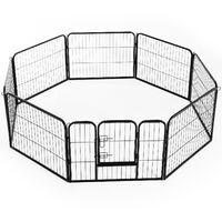 Pawhut Heavy Duty Dog Pet Puppy Metal Playpen Play Pen Rabbit Pig Hutch Run Enclosure Foldable