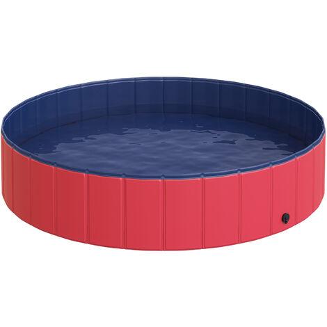 PawHut® Hundebad Hundepool Schwimmbecken Planschbecken Swimmingpool Φ140cm