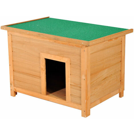 PawHut® Hundehütte Hundehaus Holz 85x58x58cm