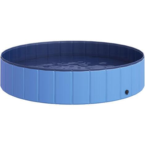 PawHut® Hundepool Schwimmbad Φ140cm Hellblau