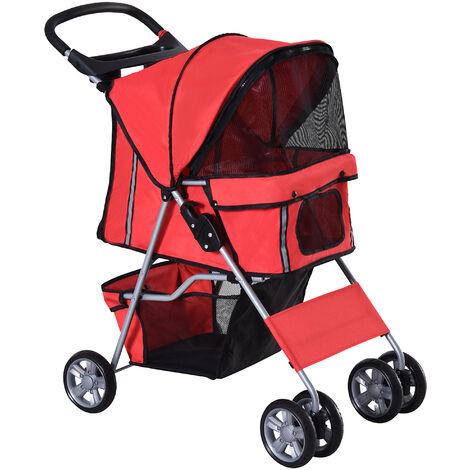 PawHut® Hundewagen Hundebuggy Hunde Pet Stroller Buggy 4 Farben 3/4 Räder