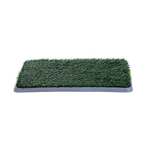 PawHut Indoor Dog Toilet Training Mat Potty Tray Grass Portable - 43L x 68W x 3T (cm)