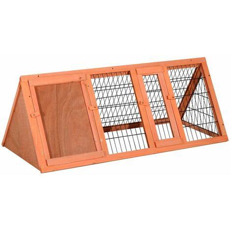 PawHut Jaula Conejo Conejera Hamster Madera Metal 118x50x45cm Ratones Rata Chinchilla