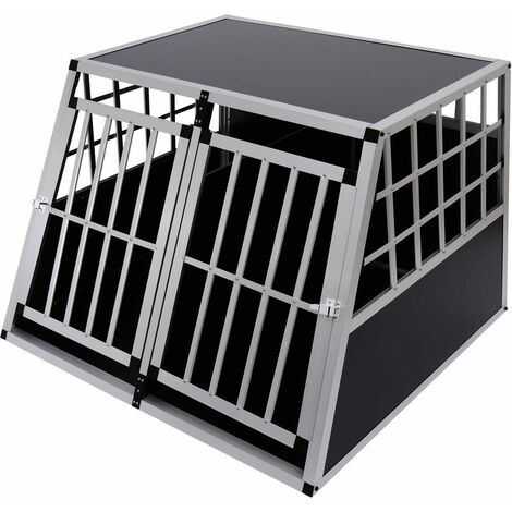 PawHut Jaula De Transporte Para Perros De Aluminio Con Tabique Hermetico Estraible XXL