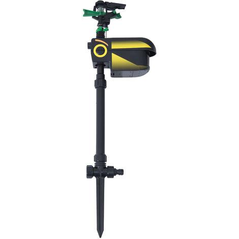 PawHut Jet Spray-Sprinkler Sensor Animal Repeller Motion Activated Scarecrow Adjustable