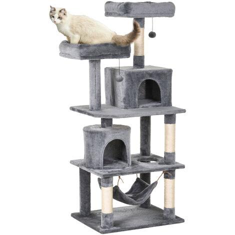 PawHut® Katzen Kratzbaum Kletterbaum für Katzen Katzenmöbel mit Sisalstämmen