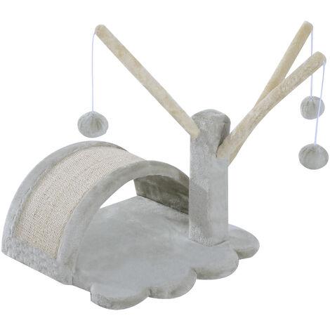 """main image of """"PawHut® Katzenbaum Kratzbaum Spielbaum Ball Katzen hellgrau - grau"""""""