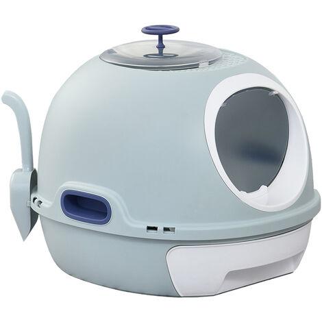 PawHut® Katzentoilette Katzenklo Dachfenster Bodenschale Schaufel Tragbar PP ABS