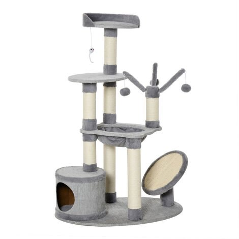 PawHut Multi-Level Cat Tree Tower Activity Centre Kitten w/ Scratching Posts