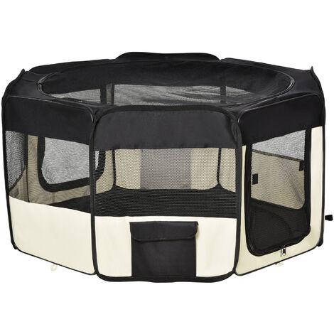 PawHut Pawhut 1571260031 parque mascotas plegable 2 medida juego entrenamiento dormitorio perro cachorros