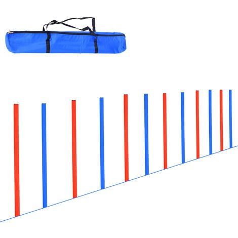 PawHut Pet Agility Training Equipment Dog Play Run Jump Obedience Training Set Adjustable (Poles)