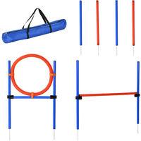 PawHut Pet Agility Training Equipment Dog Training Set Adjustable - Pole + Hoop + Hurdle