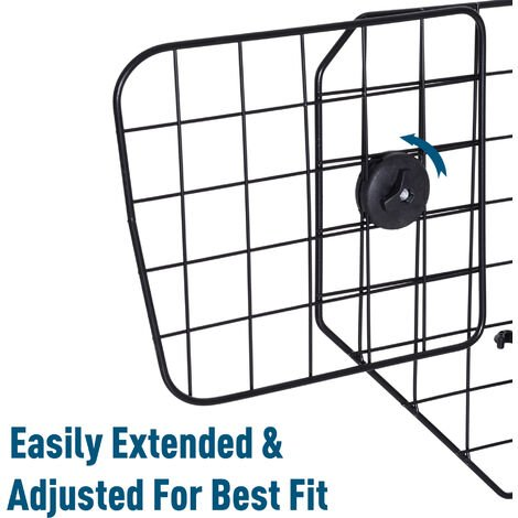 PawHut Pet Dog Car Barrier Adjustable Mesh Wire Guard Fence Protector SUVs Black