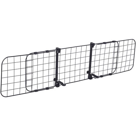 PawHut Pet Dog Car Barrier Adjustable Ventilated Mesh Wire Guard Fence Protector SUVs Black