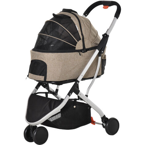 """main image of """"PawHut Pet Stroller Foldable Dog Cat Travel Carriage 2-In-1 Carrying Bag Brown"""""""