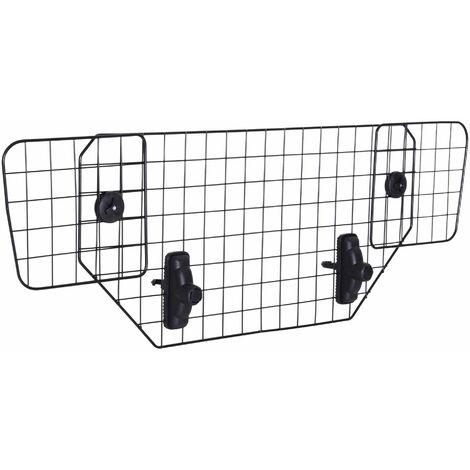 PawHut Rejilla Separador Perro Coche Extensible Reja de Seguridad Barrera Mascota Acero