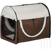 PawHut Transportin con Bolsa Transporte Perro Gato XL(81 x 56 x 66) Mascotas Plegable de Viaje